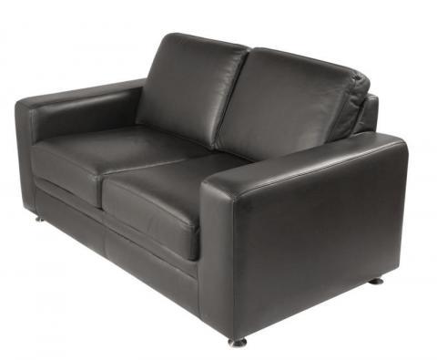 Sofa cuero sala de espera tapizado patas metalizas nime for Sofa oficina